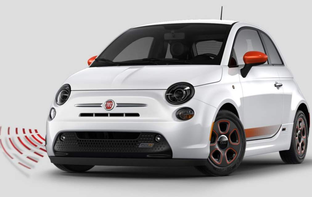 2017 Fiat 500e AUDIBLE PEDESTRIAN WARNING SYSTEM