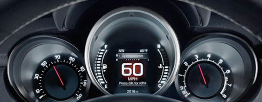 2017 FIAT 500X Pop INSTRUMENT CLUSTER DISPLAY
