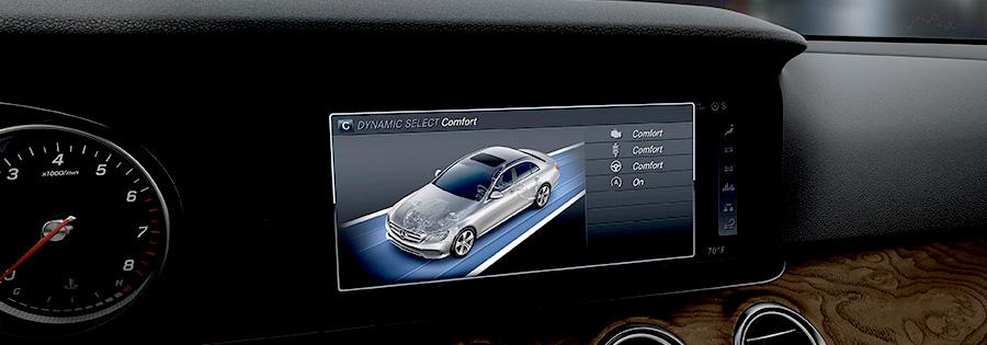 2017 Mercedes E-Class Sedan More than a screen. More like a screening room.