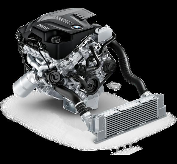 BMW's mighty inline 4-cylinder TwinPower Turbo.