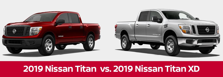 2019 Nissan Titan Vs 2019 Nissan Titan Xd In Bedford Tx Near Dallas Arlington