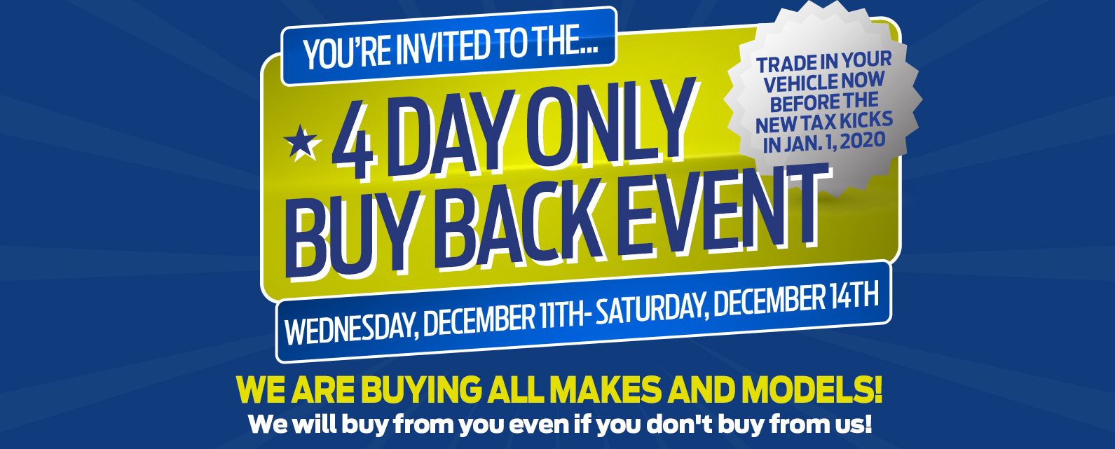 4 Day Only Buy Back Event