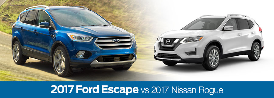 2017 Ford Escape vs 2017 Nissan Rogue Baton Rouge LA