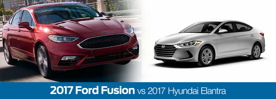 2017 Ford Fusion vs. 2017 Hyundai Elantra in Baton Rouge, LA