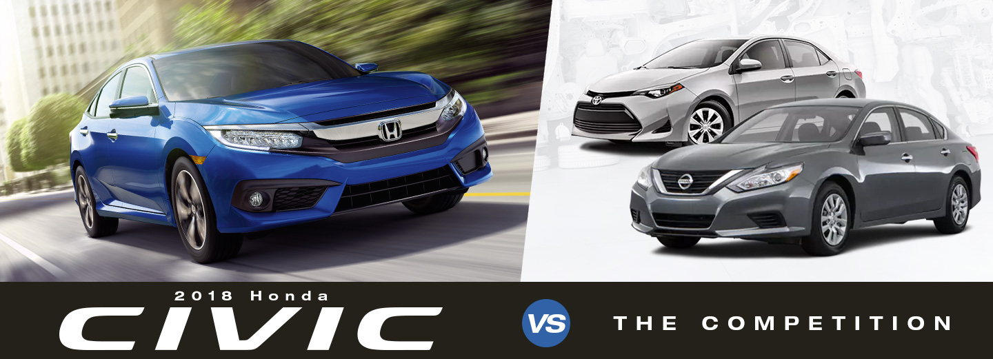 2018 Honda Civic Sedan Vs. Toyota Corolla U0026 Nissan Altima In Manassas, VA