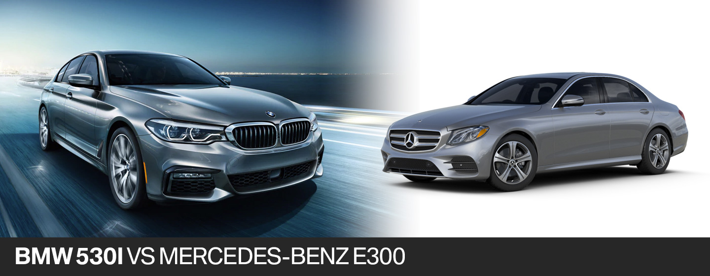12f6429aec38 2018 BMW 530i vs. 2018 Mercedes-Benz E300 in Fort Lauderdale