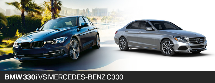 2017 BMW 330i vs 2017 Mercedes-Benz C300 Fort Lauderdale FL