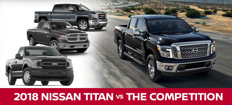 2018 Nissan Titan vs  2018 GMC Sierra, 2018 Ram 1500, & 2018
