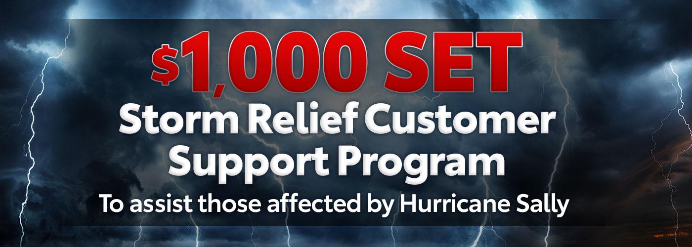 Storm Relief Customer Support Program