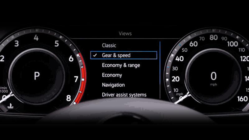 volkswagen digital cockpit information display  birmingham al  serra volkswagen