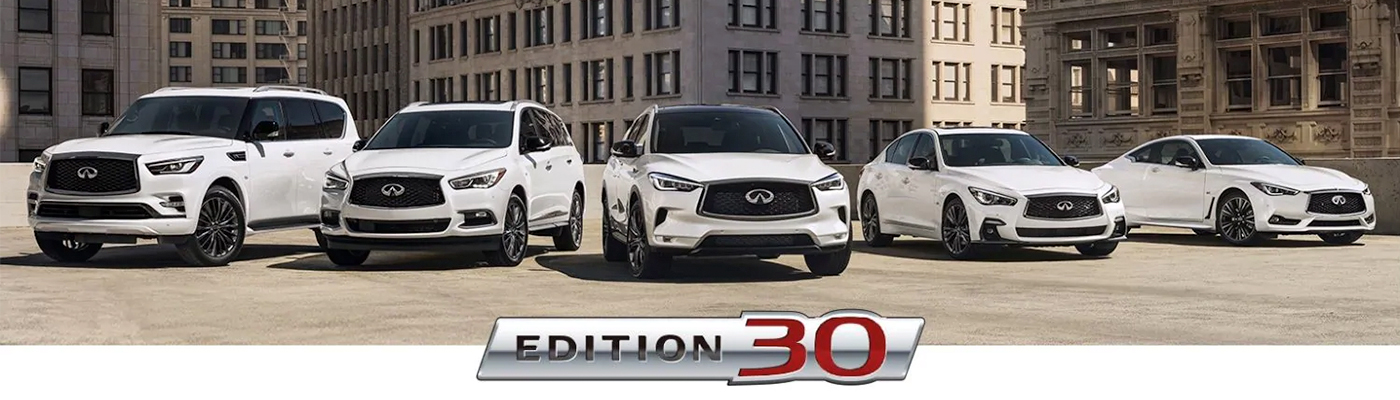 INFINITI The Edition 30 Lineup header