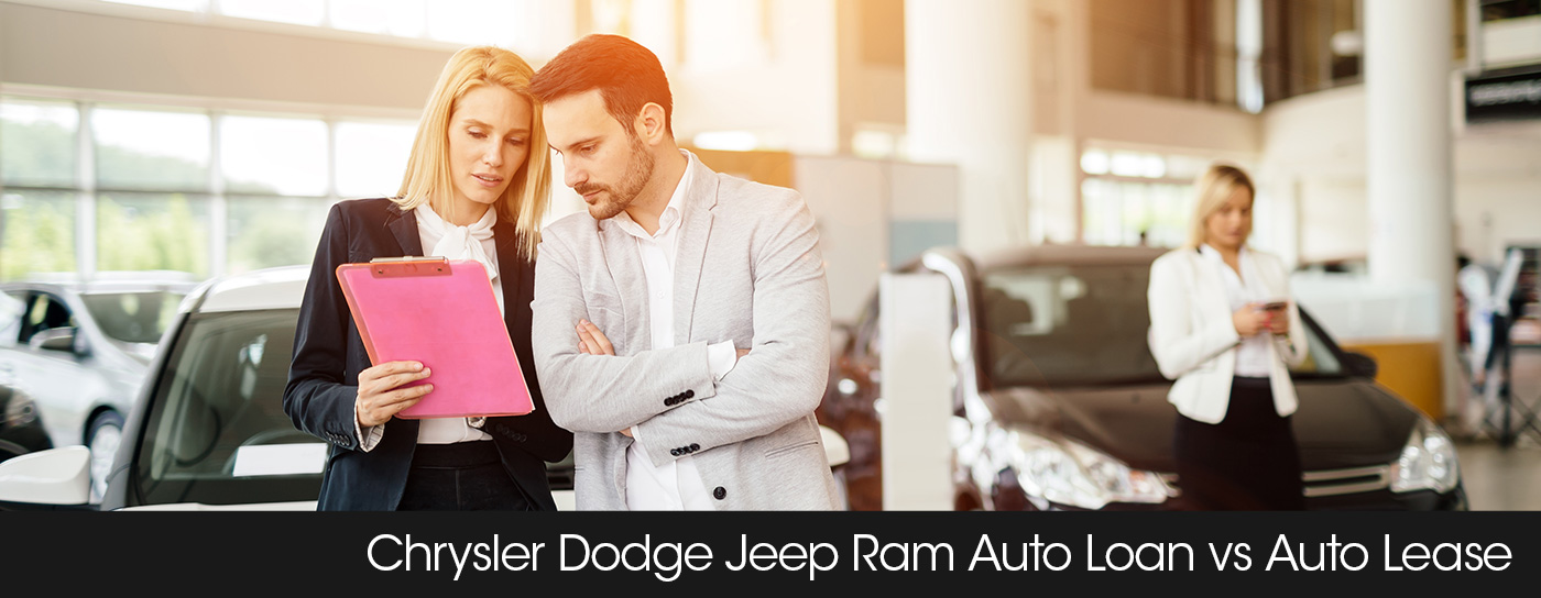 Frisco Chrysler Dodge Jeep Ram finance header lease vs. buy