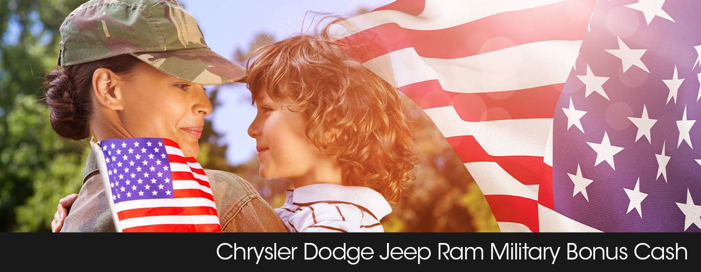 Frisco Chrysler Dodge Jeep Ram finance header military