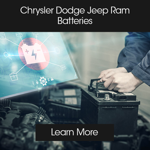 Chrysler Dodge Jeep Ram Service Module batteries