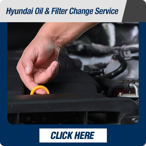 Hyundai service department oilfilter
