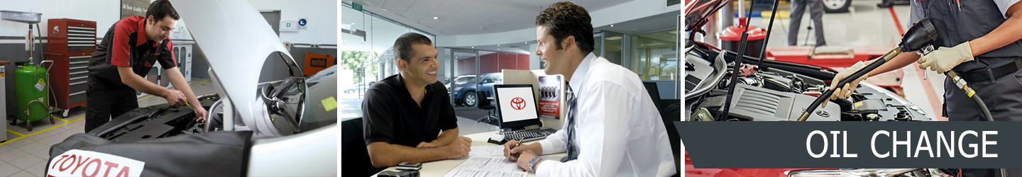 Toyota oil and filter change service