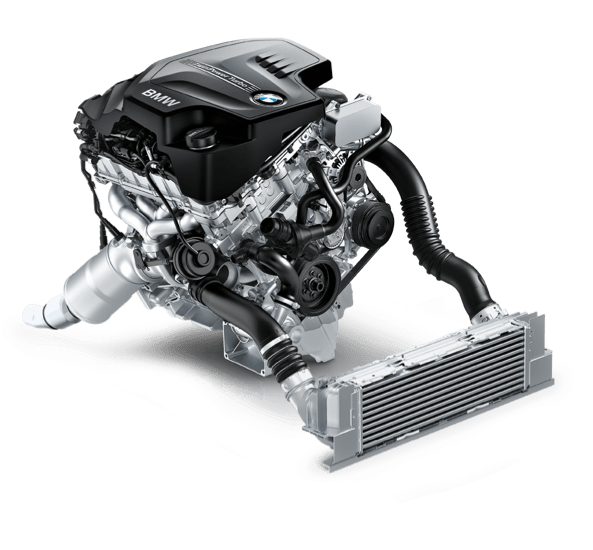 BMW's mighty inline 4-cylinder TwinPower Turbo.