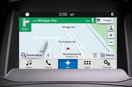 Available Navigation System with SiriusXM Traffic and Travel Link®