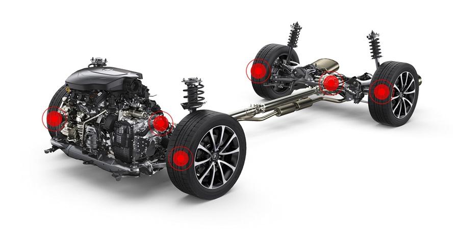2017 Acura TLX All-Wheel Steer.