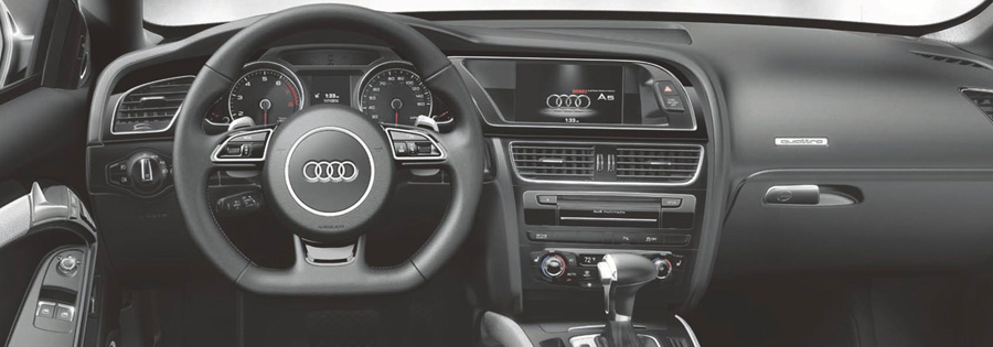 2017 Audi A5 Sport Cabriolet Three-spoke multifunction sport steering wheel