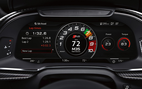 2017 Audi R8 Coupe Audi virtual cockpit