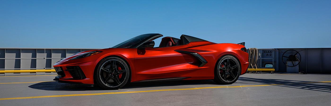 2021 Chevy Corvette header