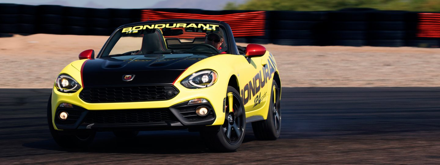 ABARTH MODELS JOIN BONDURANT'S LINEUP