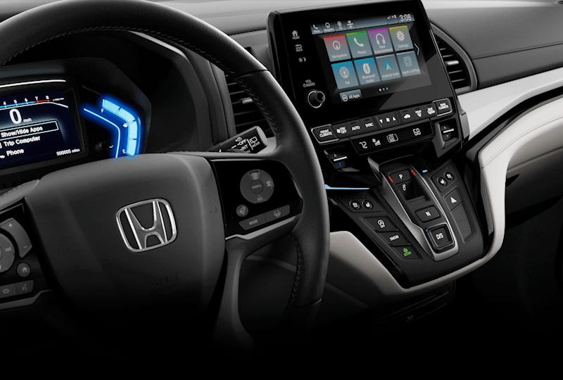 2018 honda odyssey interior. fine 2018 interior redesigned instrument panel to 2018 honda odyssey interior