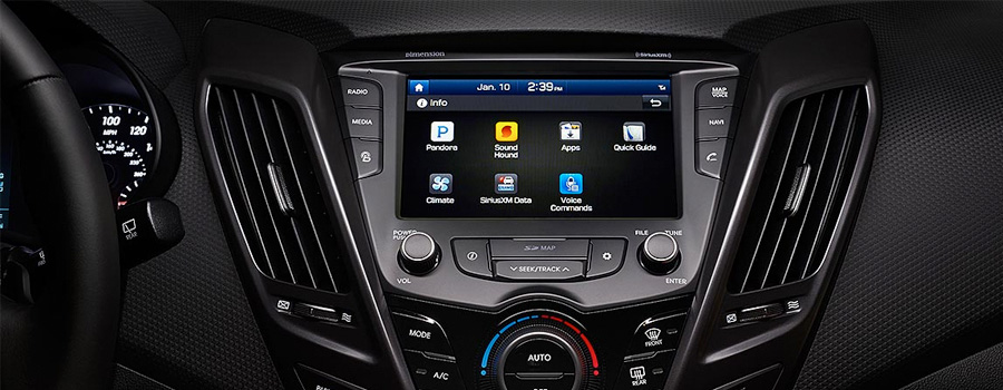A 7-inch multimedia touchscreen with Apple CarPlay™ support and Android Auto™