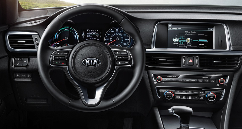 kia optima interior. your command center kia optima interior