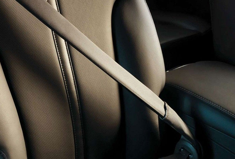 INFLATABLE SECOND-ROW SAFETY BELTS