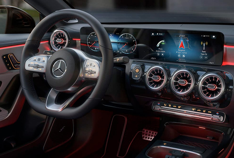 2021 Mercedes Benz CLA-coupe technology