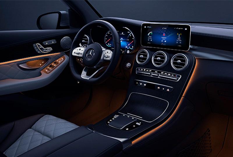2021 Mercedes Benz GLC Coupe technology