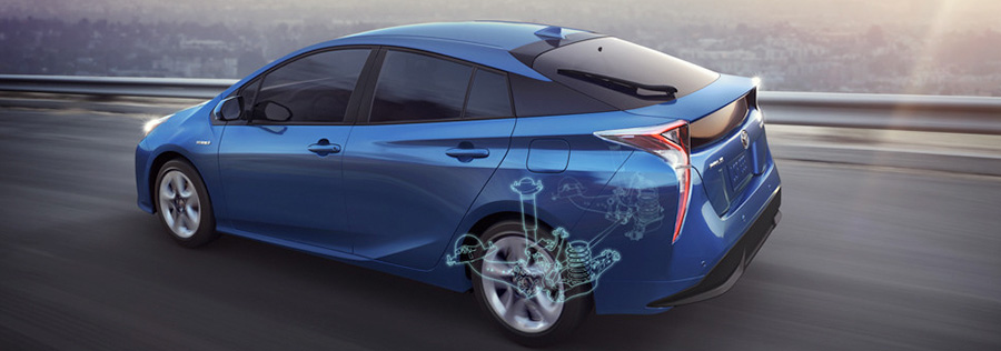 2017 toyota Prius Double-wishbone rear suspension