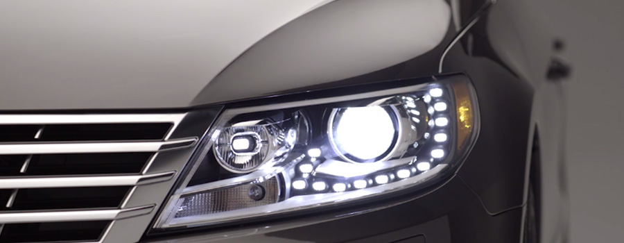 Bi-Xenon headlights with LED Daytime Running Lights.