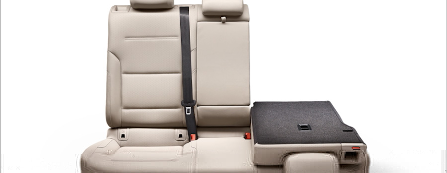 2017 Golf 60/40-split folding rear seats.