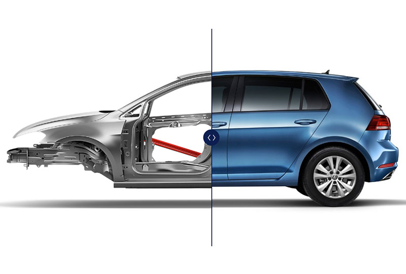 2020 VW Golf  safety Safety cage