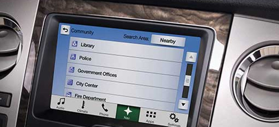 2017 Expedition Navigation System with Sirius XM Traffic and Travel Link®